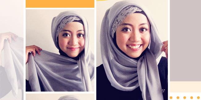 Cara Memakai Jilbab Segi Empat Hanya 1 Menit | Lagalus